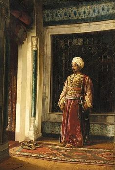 The Turkish Guard, 1880 by Stanislaw Chlebowski, (Polish, Arabian Art, Early Middle Ages, Arabian Nights, Ottoman Empire, North Africa, Andalusia, Islamic Art, Love Art, Les Oeuvres