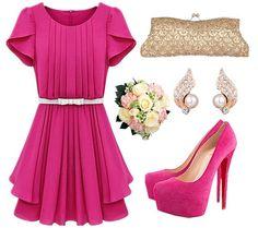 Розовый стиль, розовое летнее платье