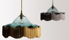 The flamboyant Vintage Light is made from freeblown glass with a lavish cascade of fringe. £420.00 RRP
