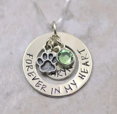 Forever in my Heart  Pet Memorial necklace pendant by SecretSphynx, $34.00