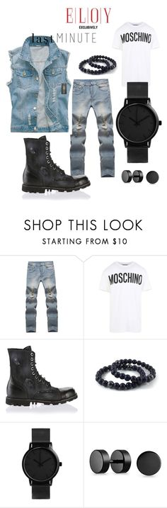 """""""Last minute outfit."""" by eloy-exclisively on Polyvore featuring Moschino, Diesel, Bling Jewelry, men's fashion and menswear"""