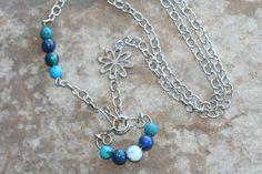 Larimar Turquoise Azurite Necklace