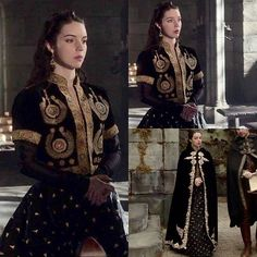 pinterest // @ohspringtime Medieval Costume, Medieval Dress, Medieval Fashion, Reign Fashion, Fashion Tv, Fashion Outfits, Queen Mary Reign, Mode Baroque, Adelaine Kane