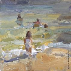 """Daily Paintworks - """"The last Summer Seascapes Plein air"""" - Original Fine Art for Sale - © Roos Schuring"""
