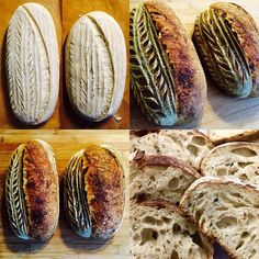 I baked a lot for an ordinary Tuesday morning...but when friends need bread, they need bread! Second bake was 10% rye, 10% spelt with molasses and toasted wheat germ.