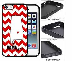 Bama Girl iPhone 5 5s Rubber Case. Full access to all ports & buttons. Image printed on metal backing insert by Future Sales Inc. Molded to fit perfectly. Thin, lightweight and durable. Protects the back of the handset.