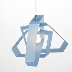 Emporium Halo lampada a sospensione, collezione Emporium KidsLight. Colori disponibili: blu, bianco, rosa e cromolite.