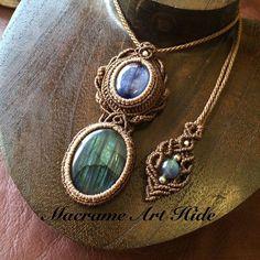 自分用ネックレスの衣替えも完了!! さてさて、オーダーに夏の出店にと作り始めよーかな #necklace #accessories #Fashion #gemstone #天然石#パワーストーン#ネックレス#ペンダント#アクセサリー#ハンドメイド#handmade #macramearthide#labradorite #kyanite #ラブラドライト#カイヤナイト#ファッション#ヒーリング#マクラメ