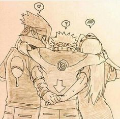Team 7, Naruto, Sakura, Sasuke, holding hands, couple, cute, funny, text; Naruto