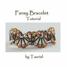 Beadwoven Fansy Bracelet tutorial. $5.00, via Etsy.