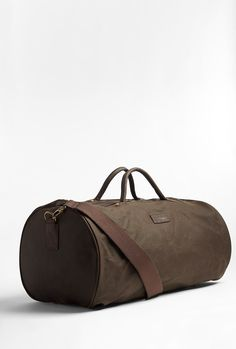 Barbour Olive waxed cotton overnight bag. $211.08 Barbour Bags, Waxed Canvas, Fashion Outlet, Discount Designer, My Wardrobe, Product Design, Making Out, Gentleman, Fashion Brands