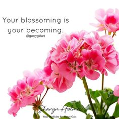 Your blossoming is your becoming. Time to reclaim liberate and bring your big vision to life! #gutsymantras