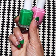 After I did these I realized they're like a version of watermelon nails but for grown ups!