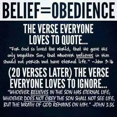 Belief must lead you to obedience! Faith Quotes, Bible Quotes, Advice Quotes, Prayer Quotes, Faith Without Works, Bible Knowledge, Bible Truth, Scripture Study, Thing 1