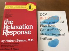 """Optimum Wellness 365 on Instagram: """"Two great books 📚 to help you relieve stress. The Relaxation Response by Herbert Benson, and Do Breathe by Michael Townsend Williams…"""" Wise Books, Relaxation Response, World University, Getting Things Done, Great Books, How To Relieve Stress, Breathe, No Response"""
