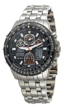 Citizen Eco-Drive Skyhawk Titanium watch with atomic time keeping with  radio-controlled accuracy.  aka the watched that saved me from daylight  saving ... 108c1b211d