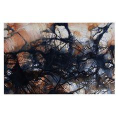 """Steve Dix """"Looking for Water"""" Brown Black Decorative Door Mat"""