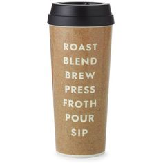 kate spade new york 'roast blend brew press froth pour sip' thermal... (243.325 IDR) ❤ liked on Polyvore
