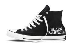 Scarpe Converse All Star Chuck UK 11 UE 45 Black Sabbath Ozzy Ozbourne Limited