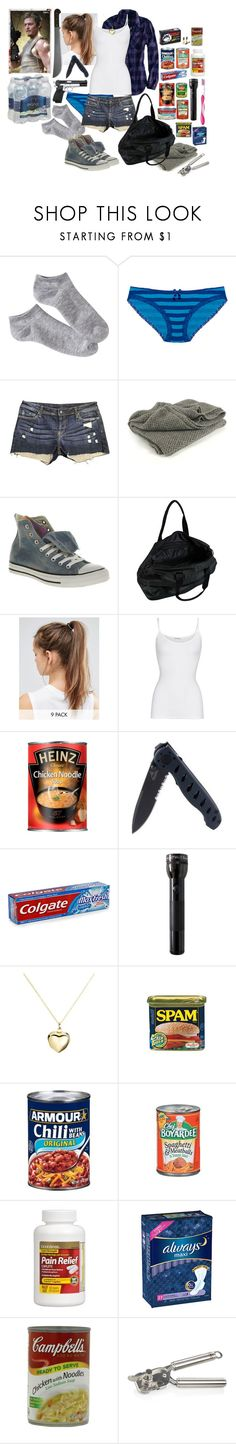 """""""The Walking Dead Daryl Dixon's Wife The Beginning"""" by werewolf-gurl ❤ liked on Polyvore featuring Xhilaration, Wet Seal, Genetic Denim, Converse, STELLA McCARTNEY, NIKE, American Eagle Outfitters, American Vintage, Gerber and Colgate"""