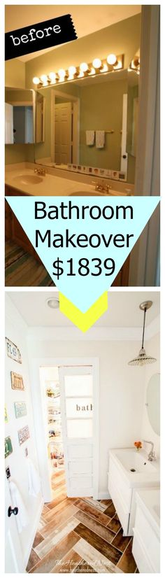 See how this couple gutted and remodeled their entire bathroom for under $2,000.00
