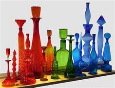 Colorful Vintage Blenko Glass