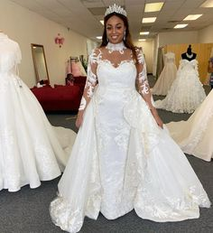 Tulle Wedding Gown, Lace Mermaid Wedding Dress, Cheap Wedding Dress, Bridal Gowns, Wedding Dresses, Wedding Ceremony, Plus Size Wedding Gowns, White Wedding Gowns, Mermaid Style