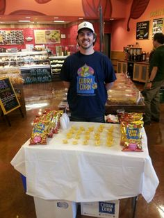 Our team handing out free Cobra Corn samples at Whole Foods Market in San Mateo, California.