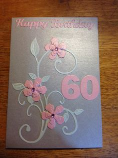 60th birthday card -The Craftree / libjj
