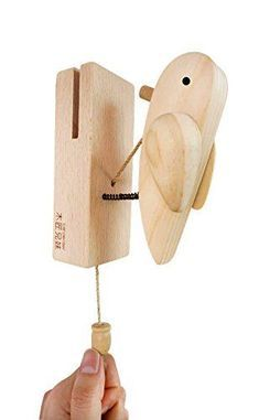 Carpenter Old-fashioned Rustic Wooden Toy Woodpecker Door Knocker for sale online Woodworking Toys, Cool Woodworking Projects, Wooden Crafts, Wooden Diy, Wood Carving Designs, Small Wood Projects, Wood Creations, Wood Toys, Carpenter