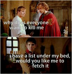 One of the best sassy Merlin moments.