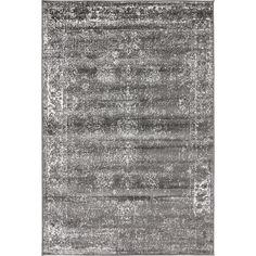 AMER Rugs Amanya Hand Tufted Gray Area Rug Size 76 X 96