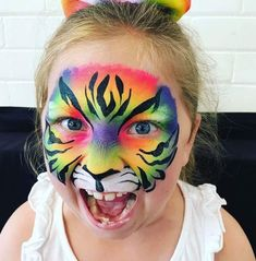 Hobbies paining body for kids and adult Face Painting Designs, Paint Designs, Body Painting, Tiger Face Paints, Pride Day, Hobbies For Women, Special Effects Makeup, Child Face, Lany
