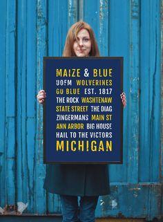 University of Michigan - Subway Poster