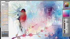 Watercolor imitation in Paintstorm Studio. www.paintstormstudio.com