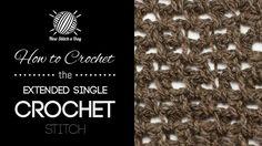 HOW TO CROCHET THE EXTENDED SINGLE CROCHET — From: http://newstitchaday.com/how-to-crochet-the-extended-single-crochet/
