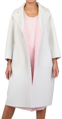 Jill Sander ~ Two Tone Soft Cashmere Melton Coat @code + form