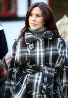 Pregnant Danish Crown Princess Mary visits the Danish Forestry Commission project in the forest of Boserup Skov .
