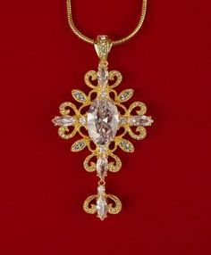 Replica pendant from the Jacqueline Kennedy Jewelry Collection - original design by Mary Fitzgerald photo courtesy of Philip Katz of Camrose and Kross