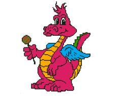Cute Dragon Embroidery Picture Instant Download door ElfinTales
