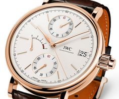The new IWC Portofino Hand-Wound Monopusher Chronograph watch with images, price, background, specs, & our expert analysis. Iwc Watches, Sport Watches, Stylish Watches, Cool Watches, Casual Watches, Dream Watches, Luxury Watches, Breitling, Rolex