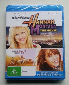 'HANNAH MONTANA THE MOVIE' starring Miley Cyrus $A15+postage (free domestic) [SEALED] enquiry@brookysbazaar.com @PayPal #bluray #movie