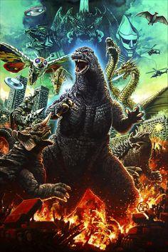Godzilla Franchise, Halloween Art, Star Trek, Pop Culture, Retro Vintage, Horror, Sci Fi, Batman, Fan Art