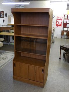 Display Cabinet With Shelves, Glass Sliding Doors And Storage Cupboard, in good condition (matching unit on separate listing) £25 (PC250) Local Delivery Service Available, 5000 sq ft Showroom OPEN Mon - Sat 10am - 7pm & Sundays 12 - 4pm.