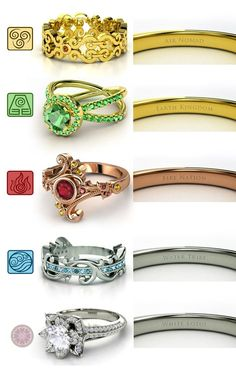 Avatar The Last Airbender/ Legend of Korra rings (I think I like these better than the Sailor Moon ones)