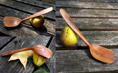 Don Nalezyty - Sanded finish plum serving spoon.