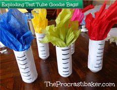 The Procrastibaker: Exploding Test Tube Goodie Bags of SCIENCE!!!