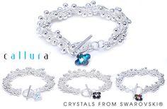 78% de rabais sur un bracelet en argent signé Callura orné d'un cristal