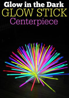 Today I thought I'd share a fun DIY glow stick centerpiece that I bet your…