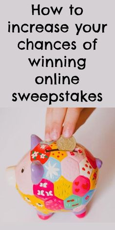 How to increase your chances of winning online sweepstakes and giveaways - great tips!